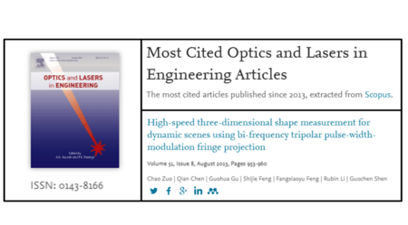 Most Cited Article in OLEN Optics and Lasers in Engineering 51 (8), 953-960 (2013)