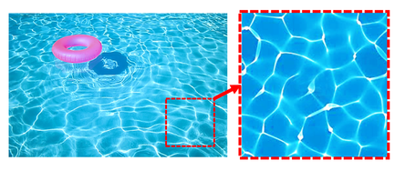Swimming pool in the sunshine (phase->intensity)