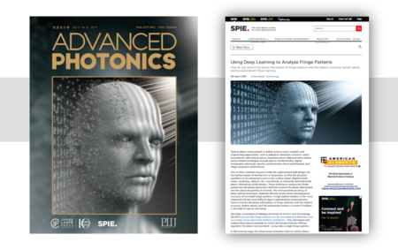 Cover papers of Advanced Photonics, highlight by the SPIE Newsroom